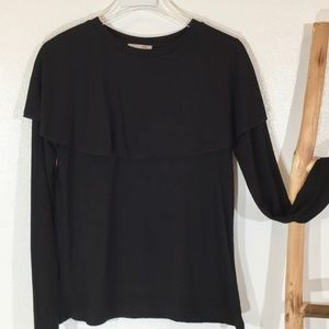 Zara Collection Not Your Basic Black Tee ! Sz. M